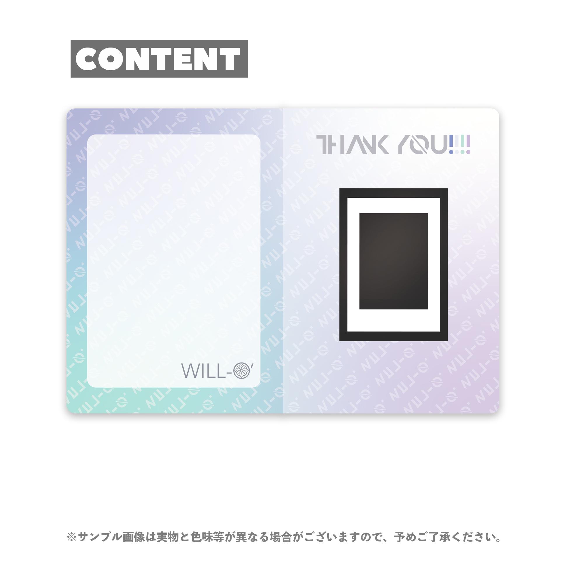 【榎本りょう】FC限定/特製カードボードつきソロチェキ(ツアー開催記念)